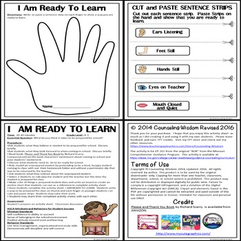 I Am Ready to Learn-Back to School Activity