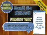 Back to School Activity: Introduce Yourself with Instagram