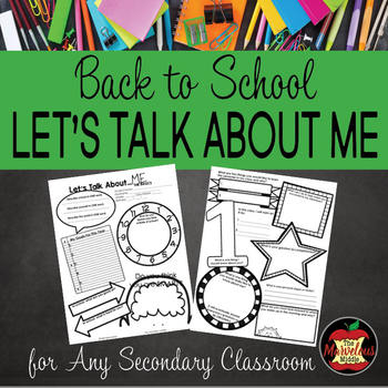 Back to School Activity-Let's Talk About Me