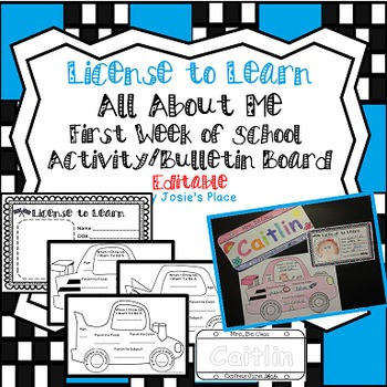 Back to School  License to Learn  Activity & Bulletin Board Editable