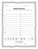 Back to School Activity - Making Words