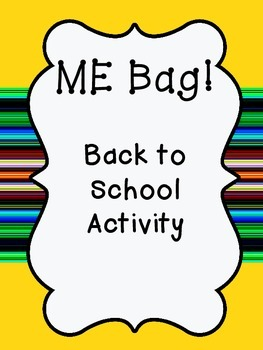 Back to School Activity: Me Bag!