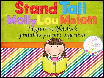 Back to School Activity Molly Lou Melon First Week Interactive Notebook