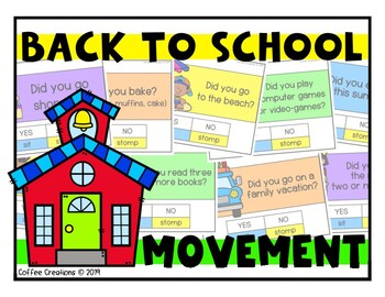 Back to School Activity Movement Game