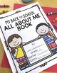 Back To School All About Me Book with Free Writing and Writing Templates