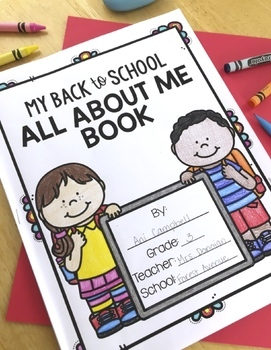 All About Me Activities:  Back to School All About Me Book