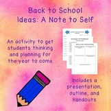 Back to School Activity: Note to Self