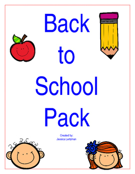 Back to School Activity Pack