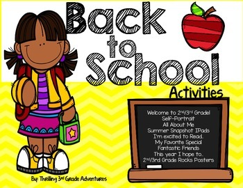 Back to School Activity Pack 2nd/3rd Grade