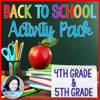 Back to School Activity Pack- 4th Grade and 5th Grade