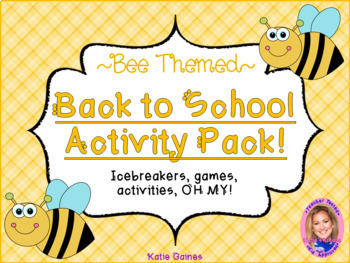 Back to School Activity Pack- BEE THEMED!