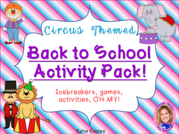 Back to School Activity Pack- CIRCUS THEMED