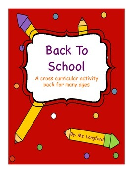 Back to School Activity Pack FREEBIE