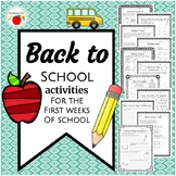 Back to School Activity Pack: Grades 4 - 6