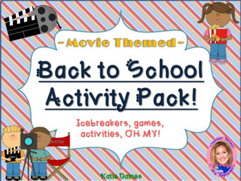 Back to School Activity Pack- MOVIE THEMED