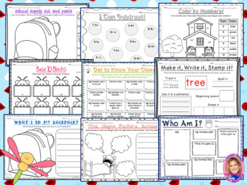 Back to School Activity Pack- NATURE THEMED
