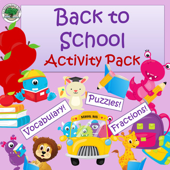 Back to School Activity Pack  NO PREP!  Great Sub Lesson!
