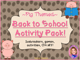 Back to School Activity Pack- PIG THEMED