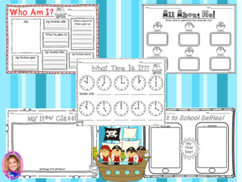 Back to School Activity Pack- PIRATE THEMED
