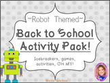 Back to School Activity Pack- ROBOT THEMED