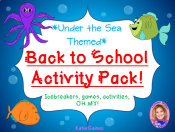 Back to School Activity Pack- UNDER THE SEA THEMED