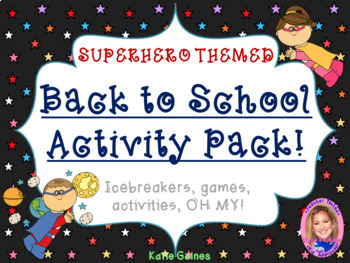 Back to School Activity Pack- SUPERHERO THEMED