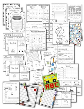 Back-to-School Activity Pack Set Reading Writing Math
