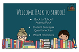 Back to School Activity Pack Student Parent Handouts Grades 3-6