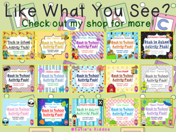 Back to School Activity Pack- TURTLE THEMED