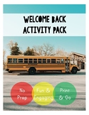 Back to School Activity Pack for First Day Fun