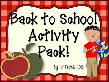 Back to School Activity Pack {games and icebreakers}