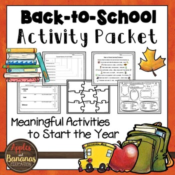First Day of School Activity Pack
