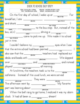Back to School Activity Packet (4 different activities) - Cute for First Day(s)