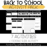 Back to School Activity Packet - Third, Fourth, & Fifth Grade