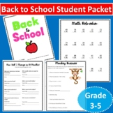 Back to School Activity Packet for Students 3rd-5th (Fun and Easy)