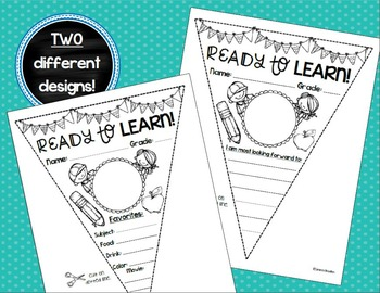 Back to School All About Me Activity Pennant Banner