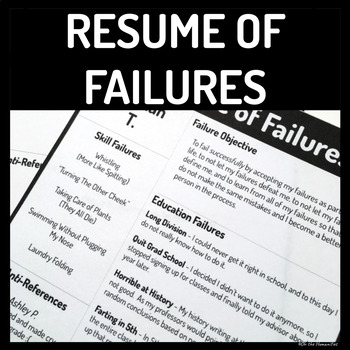 Back to School Activity Resume of Failures
