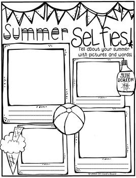 Summer Selfies Back to School Poster