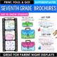 Back to School Activity Seventh Grade Brochures