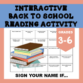 Back to School Reading Activity: Share Your Summer Reading