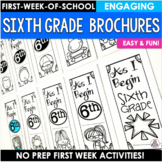Back to School Activity Sixth Grade Brochures