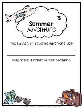Back-to-School Activity {Summer Adventure}