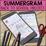 Back to School Activity | Summer Memories