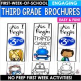 Back to School Activity Third Grade Brochures