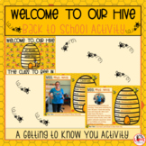 Back to School Activity- Welcome to our Hive