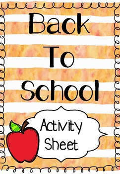 Back to School Activity - What Worries you About Starting a New Year?