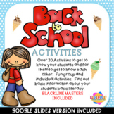 Back to School Activity Worksheets