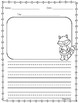 Kissing Hand Writing Template in Spanish & English