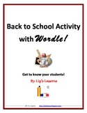 Back to School Activity with Wordle!