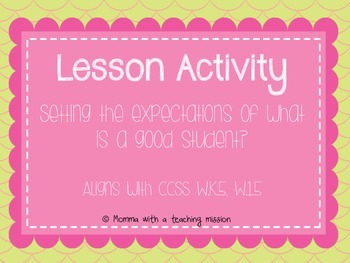 Back to School Activity/Lesson- Recipe for a good student